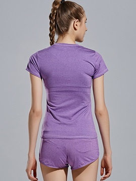 Fast-Drying Dance And Gym Women Shirt And Shorts