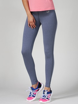 Cationic Fabric Solid Color Women Yoga Pant