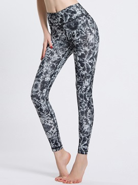 High Rise Fabulous Printed Body-Hugging Yoga Active Pant