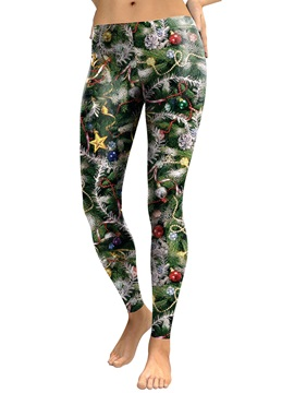 Christmas Print Breathable Women's Pants