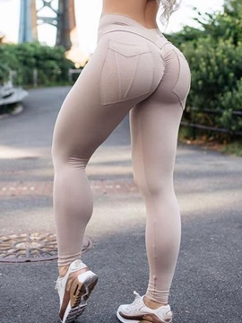 Women's Ruched Butt Lifting Pocket High Waisted Leggings