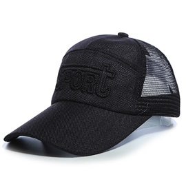 Letters Embroidery Mesh Sports Hat