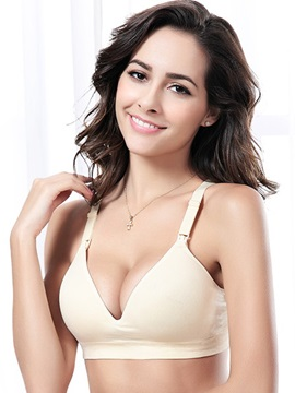 Seamless Wireless Push-Up Maternity Nursing Bra