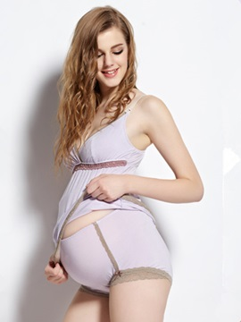 Stylish Lace-Trim Maternity Shaping Brief