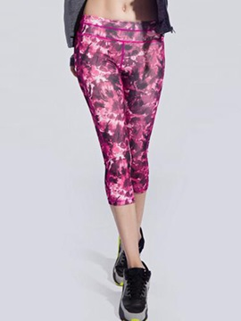Floral-Print Stretchy Women Yoga Tights