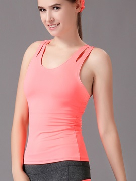Cotton Summer Keyhole Back Women Tank