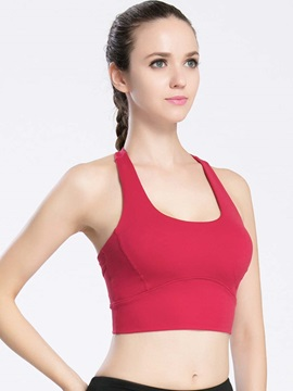 Pure Color Breathable Quick Drying Sports Bra