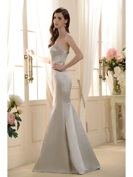 Charming Trumpet/Mermaid Strapless Floor-Length Bridesmaid dress