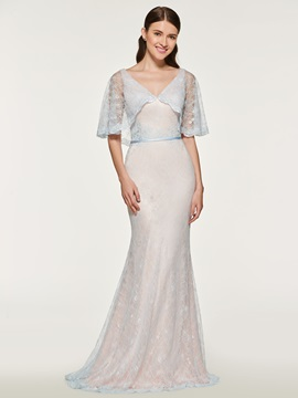 Mermaid Lace Bridesmaid Dress with Sleeve