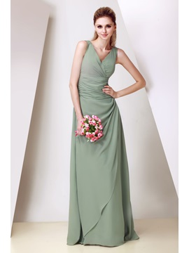 Elegant Floor-Length V-Neck Dasha