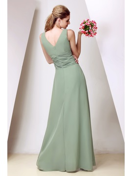 Elegant Floor-Length V-Neck Dasha's Prom Dress