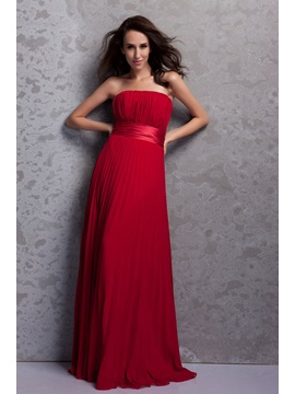 Buy Elegant A-Line Pleats Strapless Empire Waist Floor-Length Renata's Bridesmaid Dress