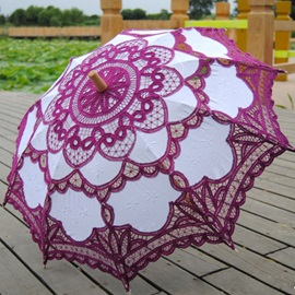 Purple Lace Flower Wedding Umbrellas for Sale