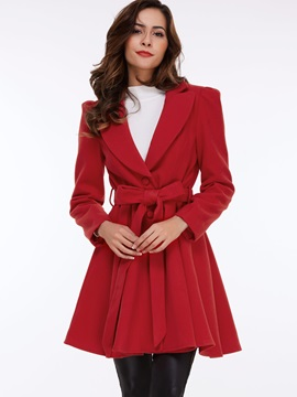 Chic Belt Big Lapel Slim Trench Coat