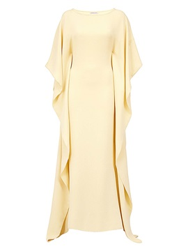 Yellow Bat Sleeve Women's Maxi Dress