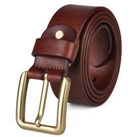Pin Metal PU Buckle Belt
