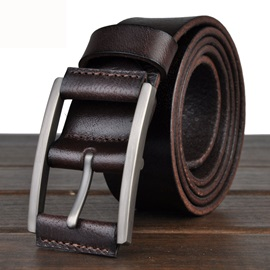 Pin Metal Buckle Men's Casual Belt