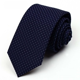 Polka Dot Decorated Men's Necktie