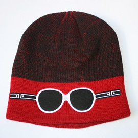 Glasses Decorated Knitted Men's Hat