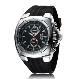 Casual Style Men's Silicone Watch