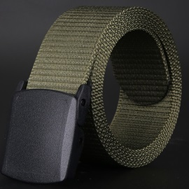 Canvas Solid Men Belt