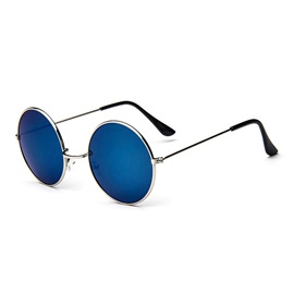 Round Anti Uv Ac Lens Material Men Sunglasses