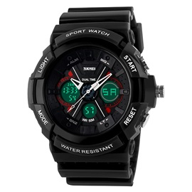Analog-Digital Round LED Sport Watch