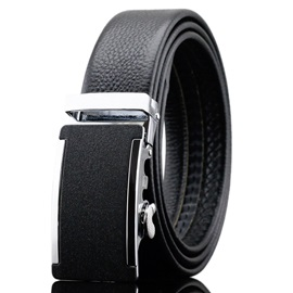 Frosted Design Alloy Automatic Buckle Men's Belt