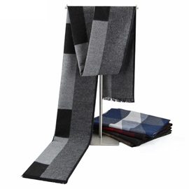 British Style Lattice Men's Scarf