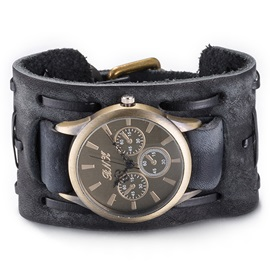 Vintage Style Black Men's Belt Watch