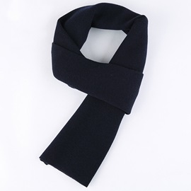 Pure Color Warm Wool Men's Scarf