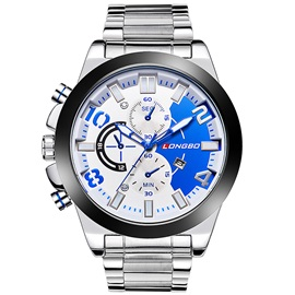 Large Dial Luminous Design Men's Quartz Watch