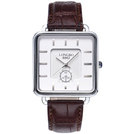 Retro Square Dial Design Men's Quartz Watch