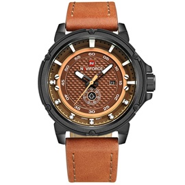 Analog Display Design PU Leather Men's Quartz Watch