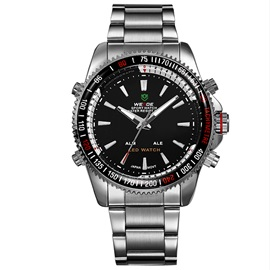 Steel Strip Waterproof Black SurfaceMen's Watch