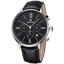 Three Eyes Dial Multifunction Men's Quartz Watch