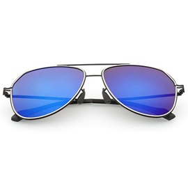 Plastic & Metal Frame Men's Polarized Sunglasses