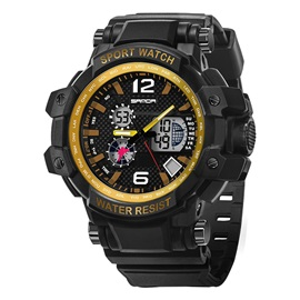 LED Luminous 30M Waterproof Acrylic Casual Sports Quartz Digital Men's Watches