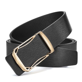 Smooth Buckle Leather Classical Vogue Men's Belts