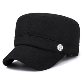 Simple Cashmere Winter Ear Flat Type Men's Hats