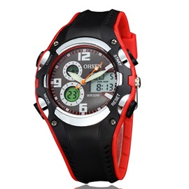Sports Analog-Digital LED Rubber Men's Watches