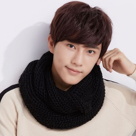 Woolen Yarn Knitted Men's Loop Scarfs