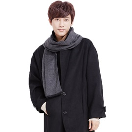 Plain Color Cashmere Winter Men's Scarfs