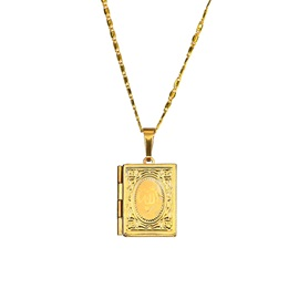 Men's 18K Gold Copper Plating Pendant Necklace