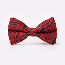 Waves Pattern Wedding Men's Bow Tie Necktie