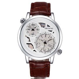 Double Movement & Time Zone Men's Strap Watch