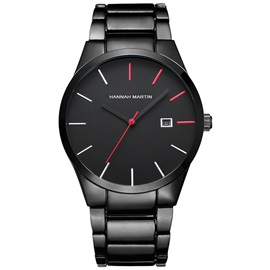 Calendar Display Single Folding Clasp Men's Watch
