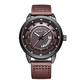 New Style Hardlex Surface Artificial Leather Men's Watch