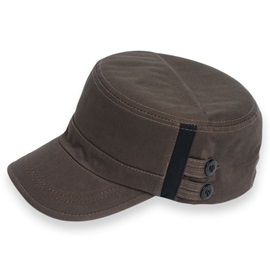 Plain Cotton Sunscreen Men's Mulitary Hat