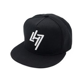 Color Block Letter Flat Brim Men's Baseball Cap